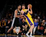 Mar 19, 2014, San Antonio Spurs vs Los Angeles Lakers - Pau Gasol, Tim Duncan Foto af Noah Graham