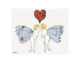I Love You So, c. 1958 (angel) Prints by Andy Warhol