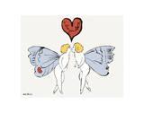 I Love You So, c. 1958 (angel) ポスター : アンディ・ウォーホル