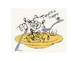 Spaghetti is So Slippery, c. 1958 高画質プリント : アンディ・ウォーホル