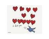 I Love You So, c. 1958 高品質プリント : アンディ・ウォーホル