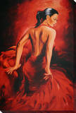 Red Dancer - Flamenco Stretched Canvas Print by R. Magrini