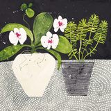 Orchid Mosaic II Giclée-tryk af Susan Brown