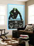 Monkey Boom Box Wall Mural by  Steez