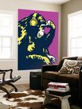 Monkey Thinker - Purple Poster géant par  Steez