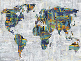 Painted Colour Map Giclee Print by Paul Duncan