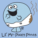 Lil Mr Poopy Pants Giclee Print by Todd Goldman
