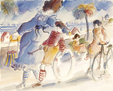 Paseo de los ingleses Lámina giclée por Michel Boulet