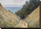 Road at La Cavée, Pourville, 1882 Impressão em tela esticada por Claude Monet
