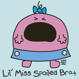 Lil Miss Spoiled Brat Reproduction procédé giclée par Todd Goldman