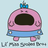 Lil Miss Spoiled Brat Giclee Print by Todd Goldman