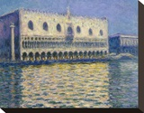 The Doges Palace, 1908 Stretched Canvas Print by Claude Monet