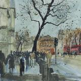 Winter Morning - Whitehall, London Reproduction procédé giclée par Susan Brown