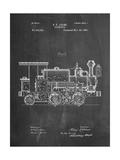 Train Locomotive Patent Posters