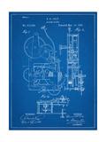 Vintage Alarm Clock Patent 1885 Art