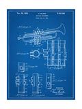 Trumpet Instrument Patent Prints