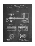 Vintage Beer Tap Patent Premium Giclée-tryk