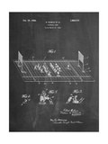 Vintage Electric Football Game Patent Plakat