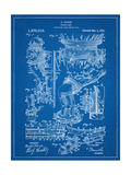 Harry Houdini Diving Suit Patent Poster