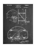 Basketball Goal Patent Kunstdruck