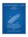 Surf Board Patent Prints