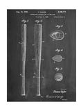 Baseball Bat Patent 1938 Plakater