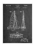Sailboat Patent Póster