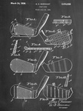 Golf Club, Club Head Patent Affischer