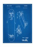 Vintage Skateboard Patent Affischer