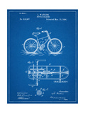 Bicycle Gearing Patent Poster
