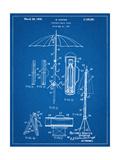 Vintage Beach Umbrella Patent1937 Lámina