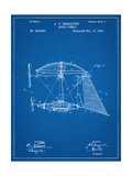 Steampunk Aerial Vessel 1893 Patent Poster