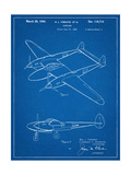 P-38 Airplane Patent Poster