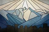 Geometric Mountain Láminas por Anna Polanski