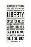 JFK Speech Poster von Anna Polanski