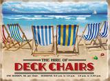 Deckchairs Tin Sign