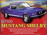 Mustang Shelby Plaque en métal