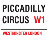 Piccadilly Circus Blechschild