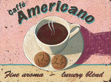 Americano Tin Sign by Martin Wiscombe