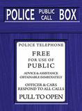 Police Box Blechschild