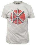 Dead Kennedys - Distressed Logo White (slim fit) Vêtements