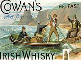 Cowans Irish Whisky Plaque en métal