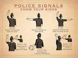 Police Signals Blechschild