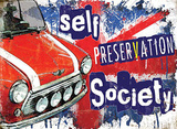 Mini car - Self Preservation Society Plaque en métal