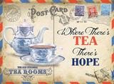 Tea Hope Blechschild