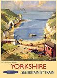 Yorkshire Beach Scene Blechschild
