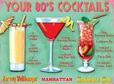 Your 80's Cocktails Plaque en métal