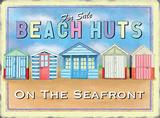 Beach huts Blechschild