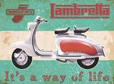 Lambretta - Way of life Metalen bord