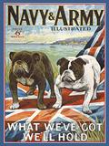 Navy & Army Blechschild